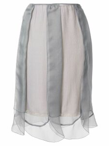 Prada layered tulle slip skirt - Grey