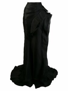 Ermanno Scervino ruffled organdy skirt - Black