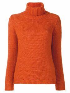 Incentive! Cashmere turtleneck jumper - Orange