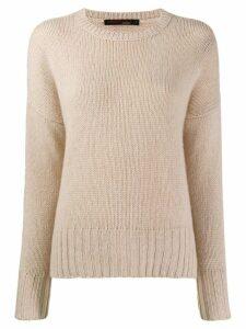 Incentive! Cashmere drop shoulder jumper - Neutrals