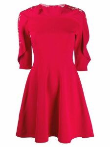 Valentino lace insert flared dress
