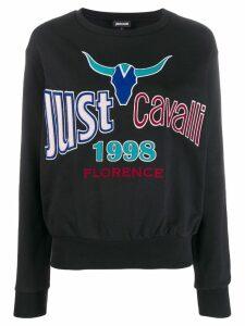 Just Cavalli embroidered logo sweatshirt - Black