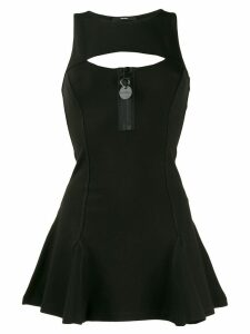 Diesel flouncy knit dress with cut-out back - Black