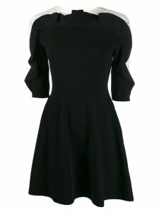 Valentino lace insert flared dress - Black