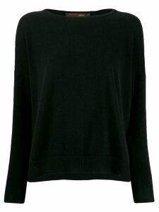 Incentive! Cashmere drop shoulder jumper - Black