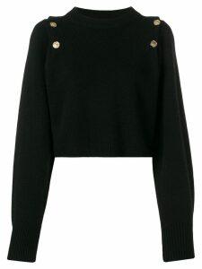 Sonia Rykiel embossed button jumper - Black