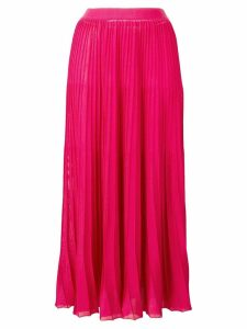 Sonia Rykiel pleated midi skirt - Pink