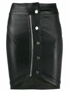 RtA button-front pencil skirt - Black