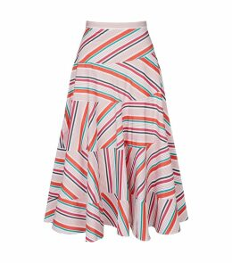 Twirl Shirting Stripe Skirt