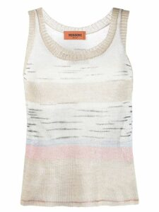 Missoni knitted tank top - Neutrals