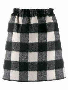 Nº21 gingham check skirt - Black