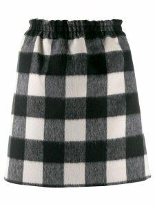 Nº21 gingham check skirt - Black