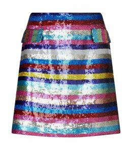 Embellished Clovis Mini Skirt