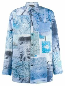 Acne Studios map print shirt - Blue