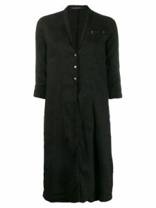 Transit lightweight midi coat - Black