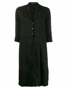 Transit lightweight midi coat - Black