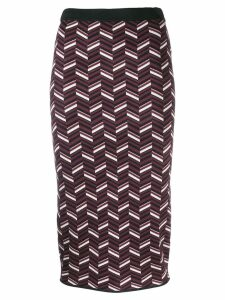 Michael Michael Kors patterned knit pencil skirt - Red