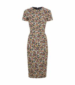 Jacquard Floral Shift Dress