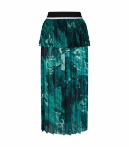 Abstract Printed Pleated Skirt