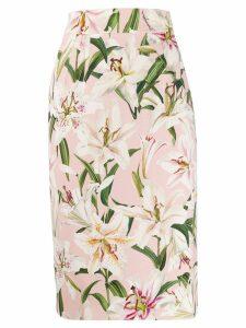 Dolce & Gabbana floral midi skirt - Pink