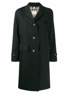 Burberry gabardine car coat - Black
