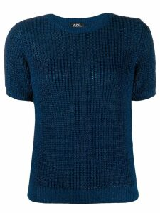A.P.C. textured knit sweater - Blue