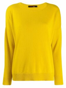 Incentive! Cashmere drop shoulder jumper - Yellow