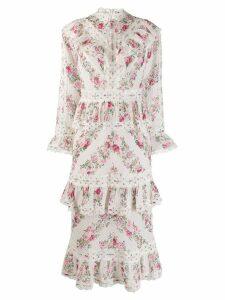 Zimmermann printed Honour dress - White