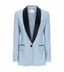 James Contrast Lapel Blazer