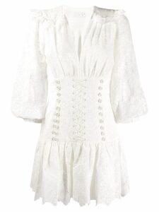 Zimmermann lace-up detail dress - White