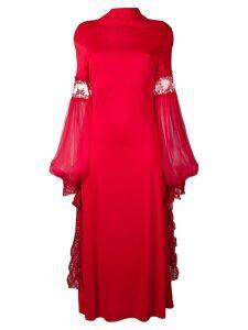 Christopher Kane mesh sleeve jersey dress - Red