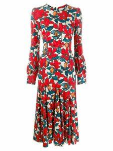 Goat Idol floral print dress - Red