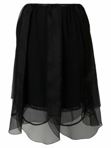 Prada layered tulle petal skirt - Black