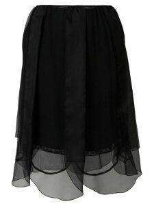 Prada layered tulle petal skirt - Black
