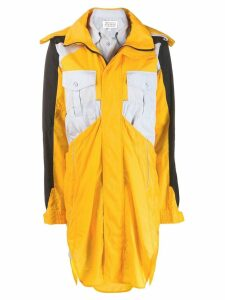 Maison Margiela colour block hooded raincoat - Yellow