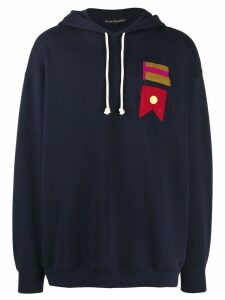 Acne Studios flag patch oversized hoodie - Blue