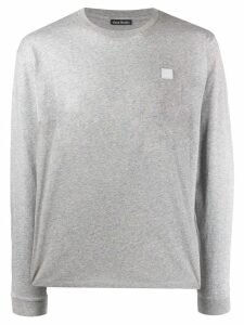 Acne Studios long sleeved crew neck T-shirt - Grey