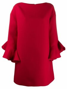 Valentino trumpet-sleeve shift dress - Red