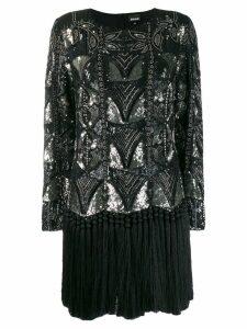 Just Cavalli sequin embellished dress - Black