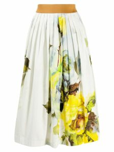 Antonio Marras pleated floral print skirt - White