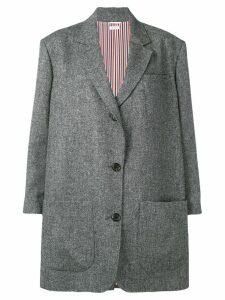 Thom Browne Supersized Donegal Tweed Sack Jacket - Grey