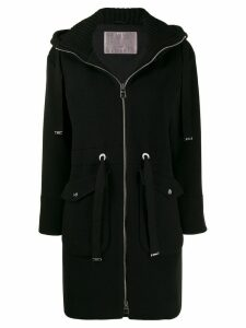 Herno hooded zip-up coat - Black
