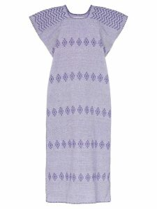 Pippa Holt embroidered kaftan midi-dress - Purple