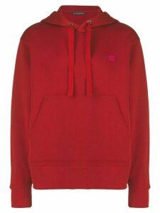 Acne Studios Ferris Face hoodie - Red