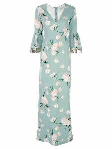 Sachin & Babi floral print Tower gown - Green