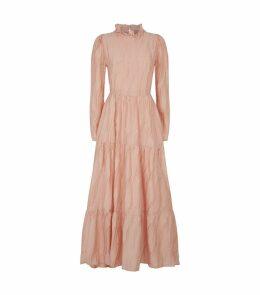 Judy Silk Tiered Dress