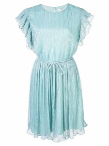 Zac Zac Posen Samantha ruffled sleeve dress - Blue