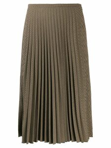 Piazza Sempione pleated midi skirt - Brown