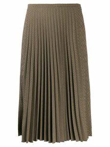 Piazza Sempione pleated midi skirt - Brown
