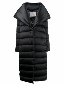 Herno oversized lapel padded coat - Black